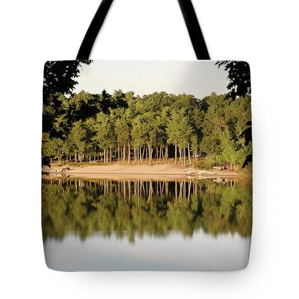 Crystal Lake In Whitehall Mi Tote Bag