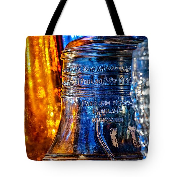 Crystal Liberty Bell Tote Bag