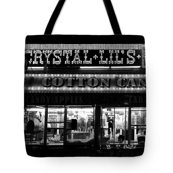 Crystal Lils And Cotton Candy Bw Tote Bag