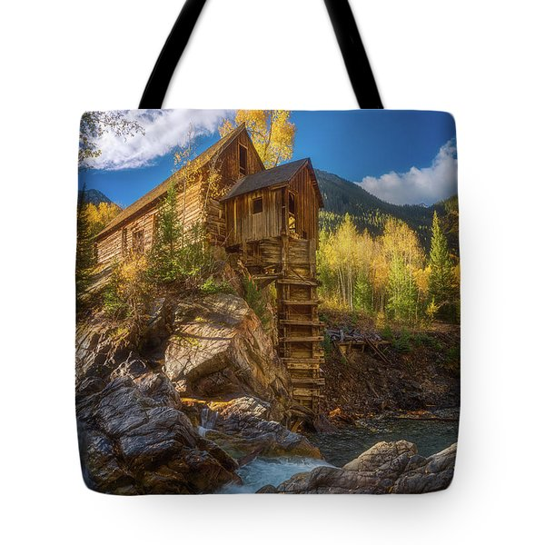Crystal Mill Morning Tote Bag by Darren White
