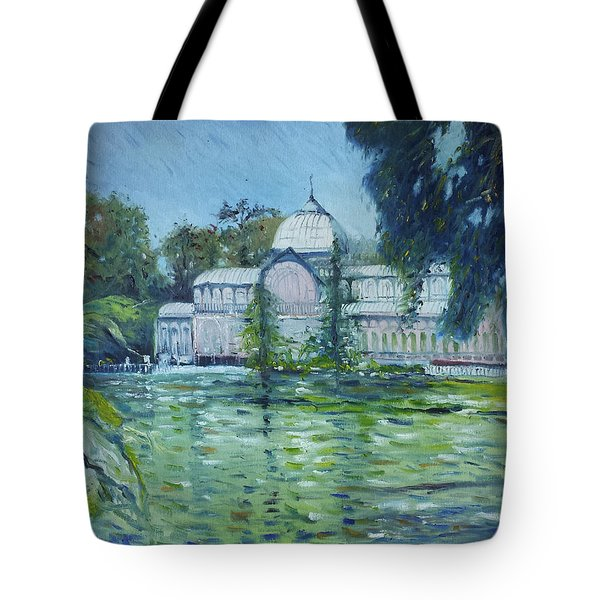 Crystal Palace Madrid Spain 2016 Tote Bag by Enver Larney