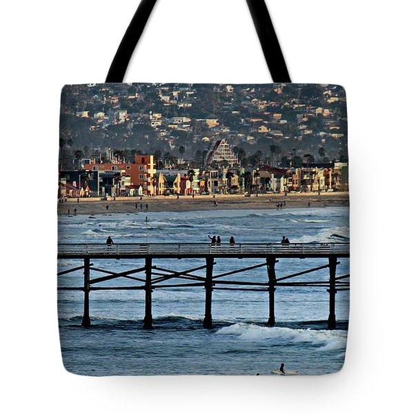 Crystal Pier - Mission Beach - Big Dipper Tote Bag