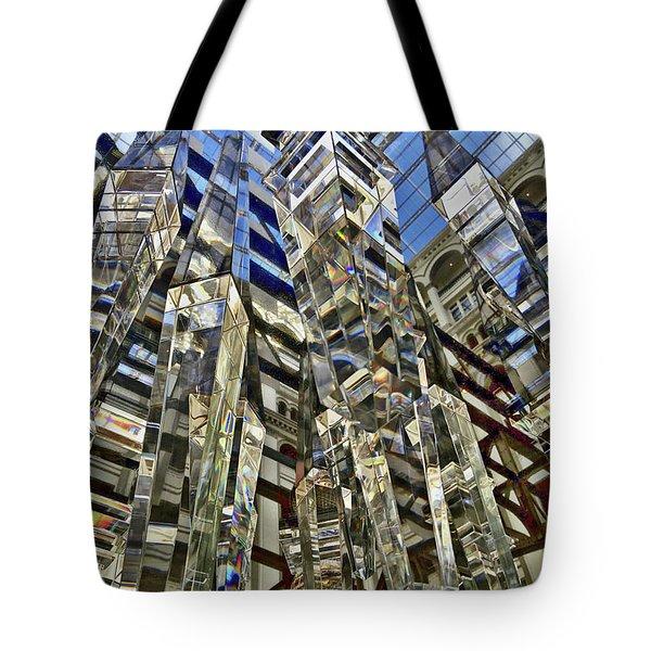 Crystal Reflection Trump Tote Bag by Lorella Schoales