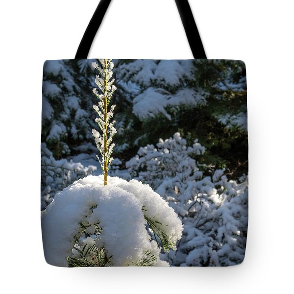 Tote Bag featuring the photograph Crystal Tree by Jan Davies