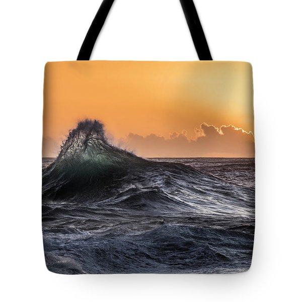 Crystal Wave Sunset Napali Coast Kauai Hawaii Tote Bag
