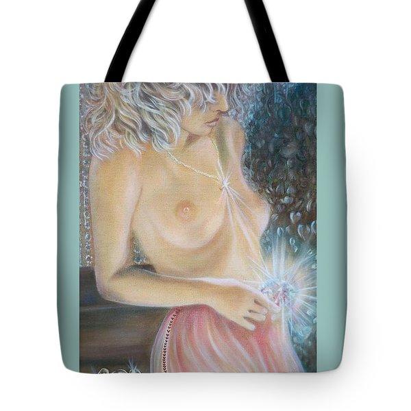 Blaa Kattproduksjoner      Crystal Wonder Viking Girl  Tote Bag
