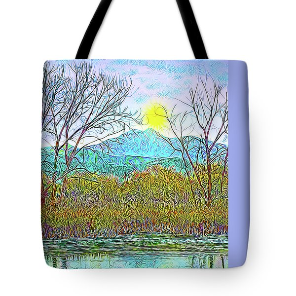 Crystalline Twilight Reflections - Boulder County Colorado Tote Bag by Joel Bruce Wallach