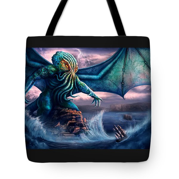 Cthulhu Tote Bag by Anthony Christou