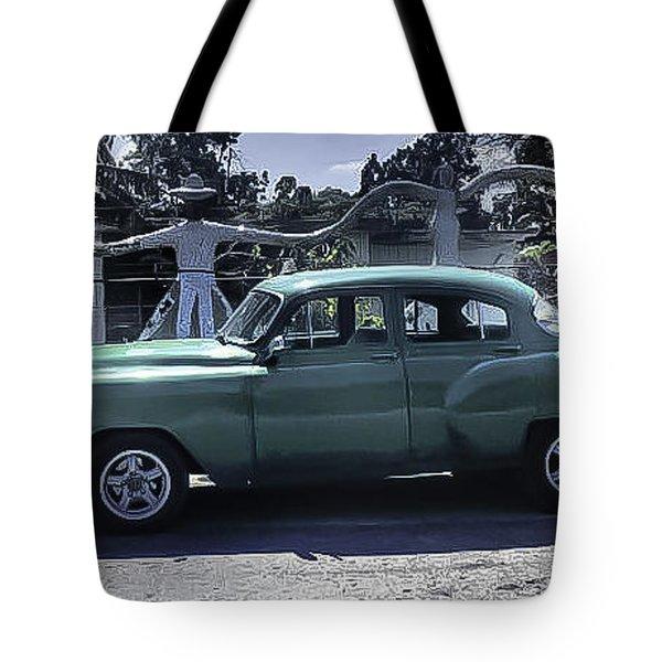 Cuba Car 8 Tote Bag