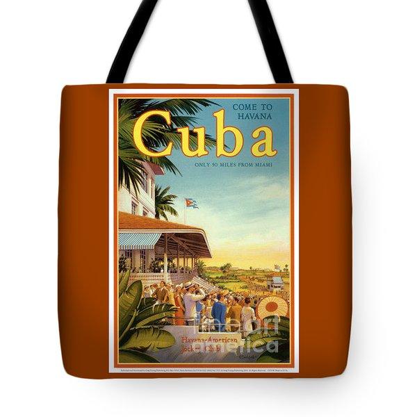 Cuba-come To Havana Tote Bag by Nostalgic Prints