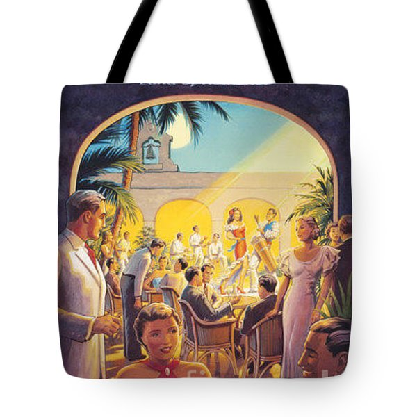Cuba-land Of Romance Tote Bag by Nostalgic Prints