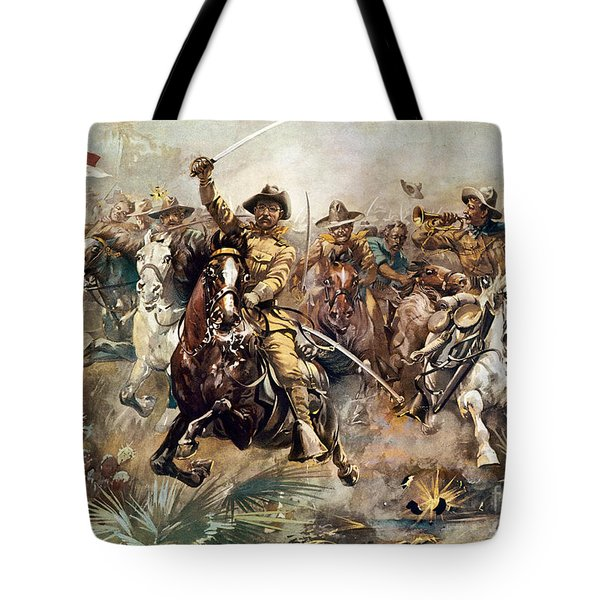 Tote Bag featuring the photograph Cuba: Rough Riders, 1898 by Granger