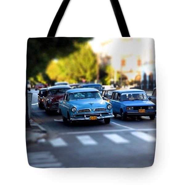 Cuba Street Scene Tote Bag