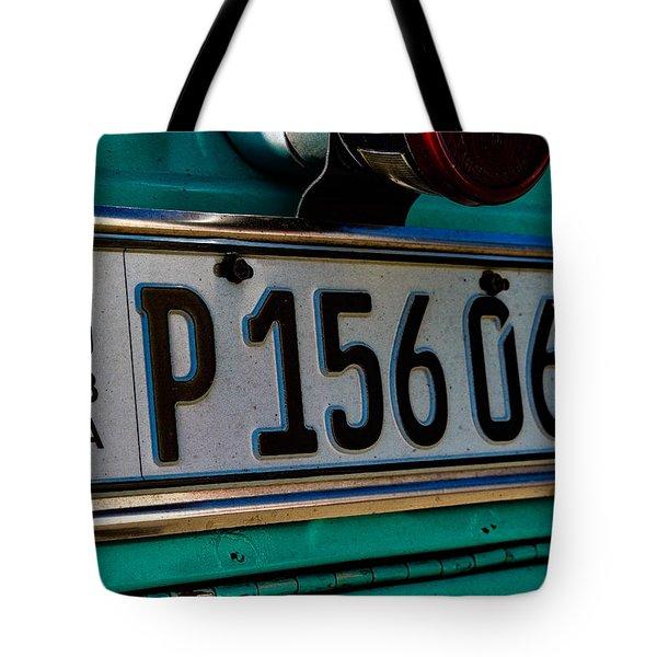 Cuban Car Art Tote Bag