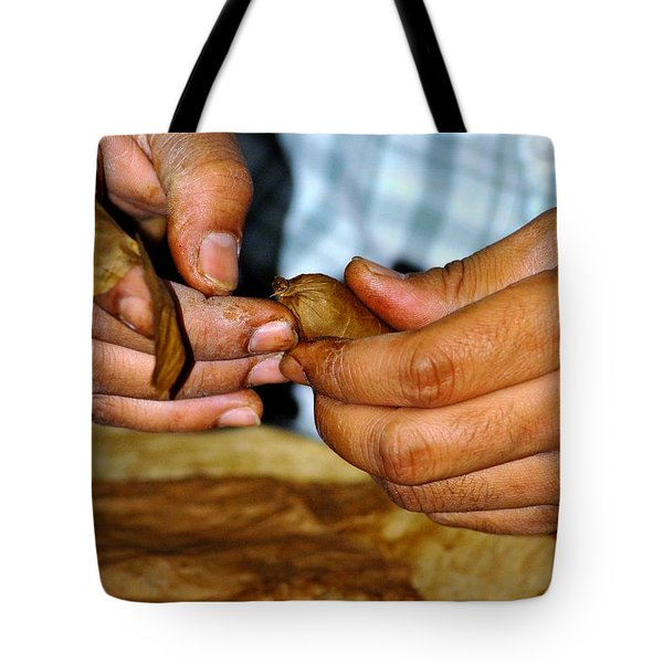 Cuban Cigar Roller Tote Bag