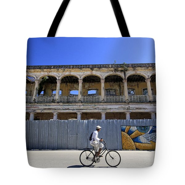 Cuban Old Colonial Architecture And Street Tote Bag by Charline Xia