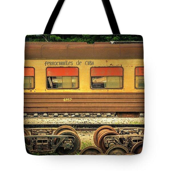 Cuban Train Tote Bag