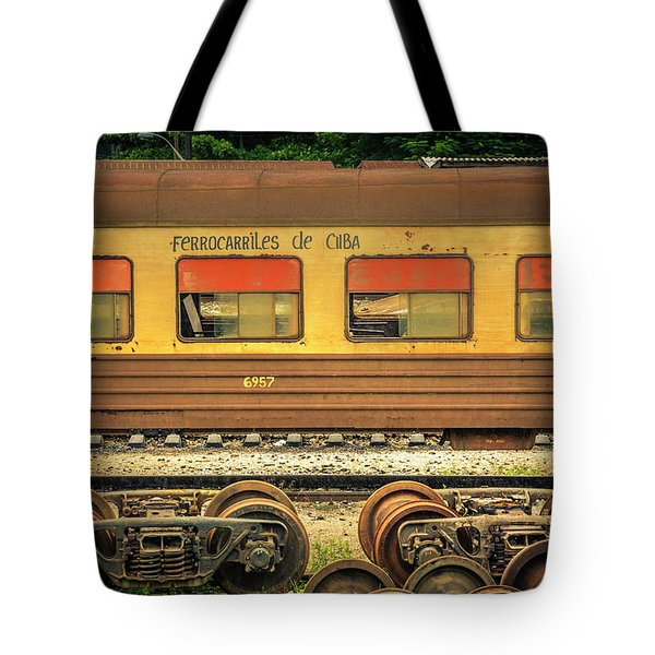 Cuban Train Tote Bag