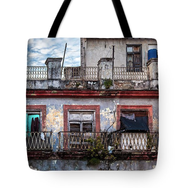 Tote Bag featuring the photograph Cuban Woman At Calle Bernaza Havana Cuba by Charles Harden