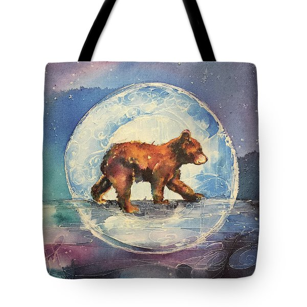 Tote Bag featuring the painting Cubbie Bear by Christy Freeman