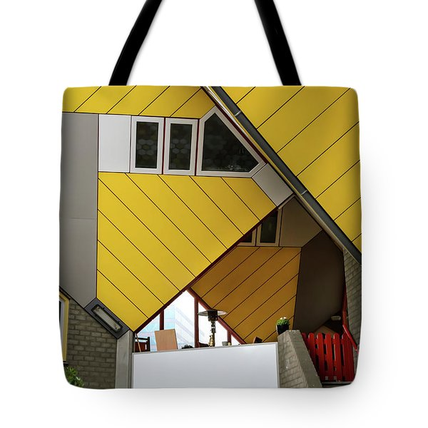 Tote Bag featuring the photograph Cube Houses Detail In Rotterdam by RicardMN Photography