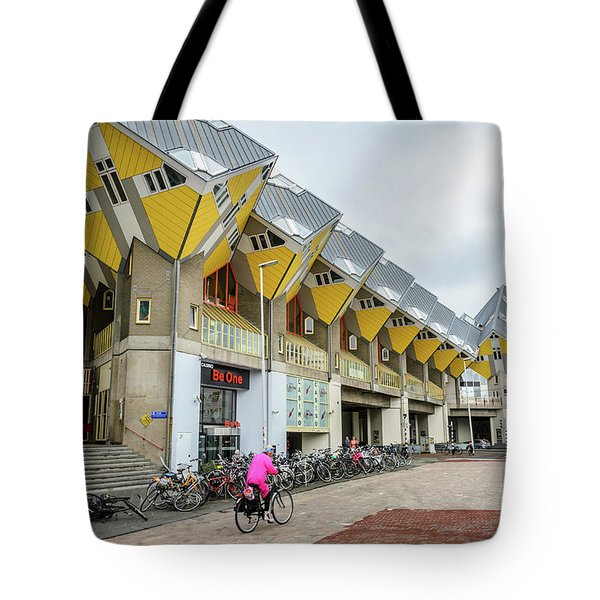 Tote Bag featuring the photograph Cube Houses In Rotterdam by RicardMN Photography