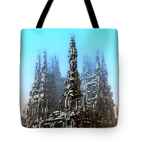 Cube Towers Tote Bag