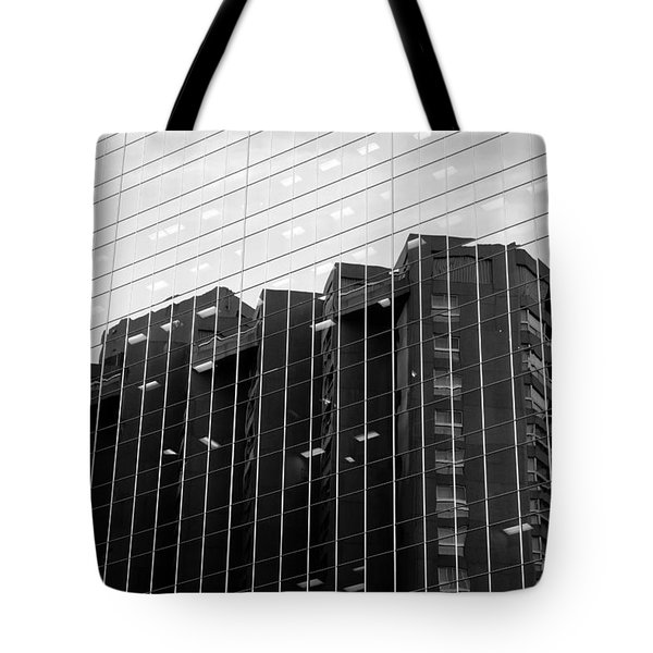 Tote Bag featuring the photograph Cubicle Farm by Valentino Visentini