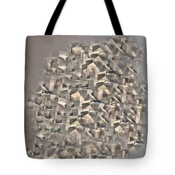 Cubism Tote Bag by Angel Jesus De la Fuente