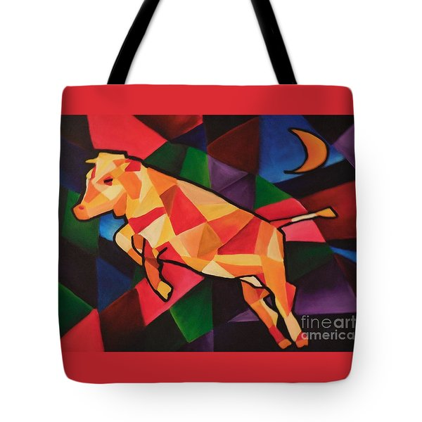 Cubism Cow Tote Bag