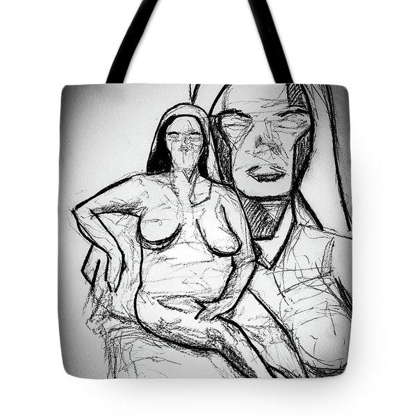 Cubism Study 4626 Tote Bag