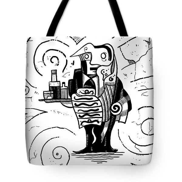 Cubist Waiter Tote Bag
