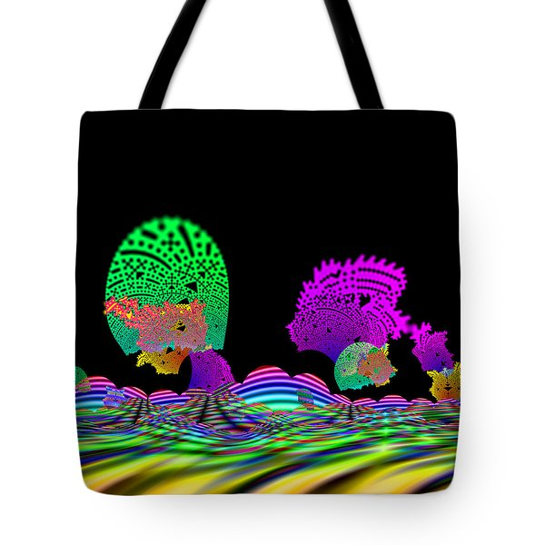 Tote Bag featuring the digital art Cubistrain by Andrew Kotlinski
