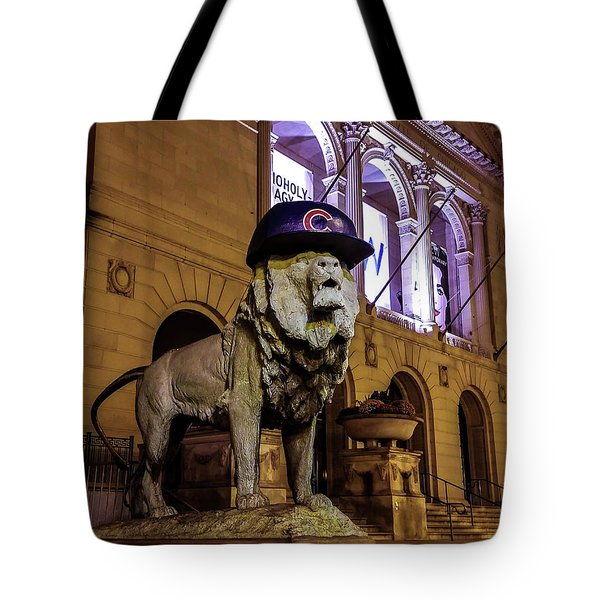 Cubs Lion Hearts Tote Bag