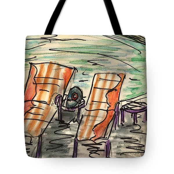 Lounge Chairs Tote Bag