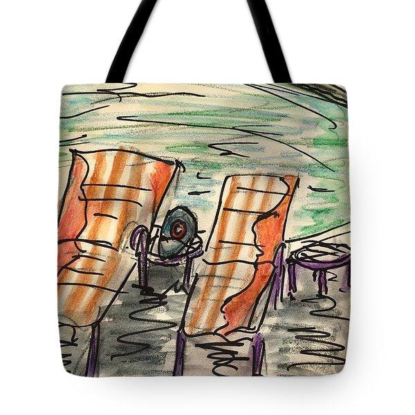Lounge Chairs Tote Bag
