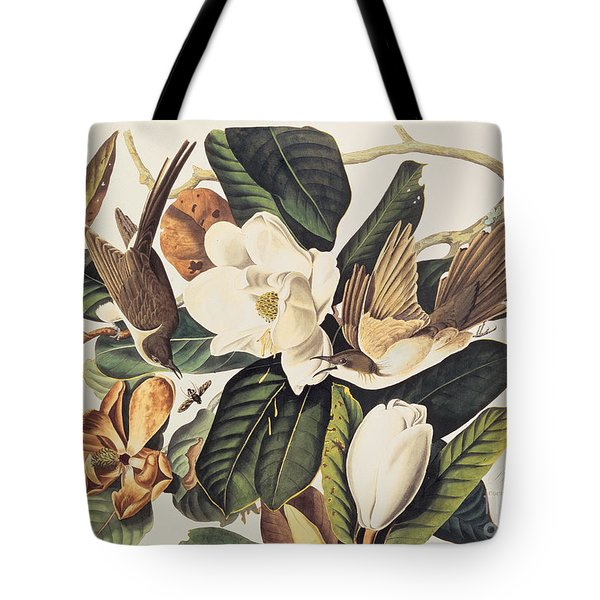 Cuckoo On Magnolia Grandiflora Tote Bag by John James Audubon