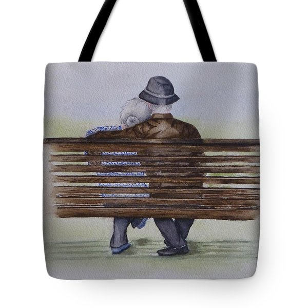 Cuddling Is Ageless Tote Bag