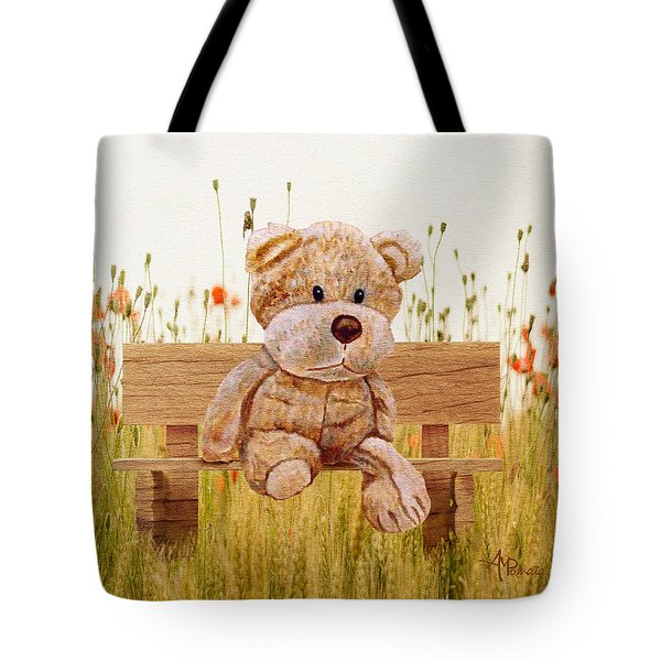 Cuddly In The Garden Tote Bag