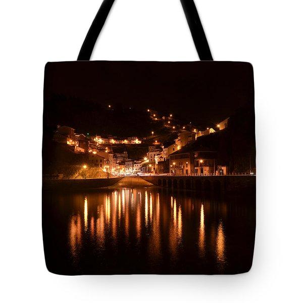 Cudillero Night Tote Bag