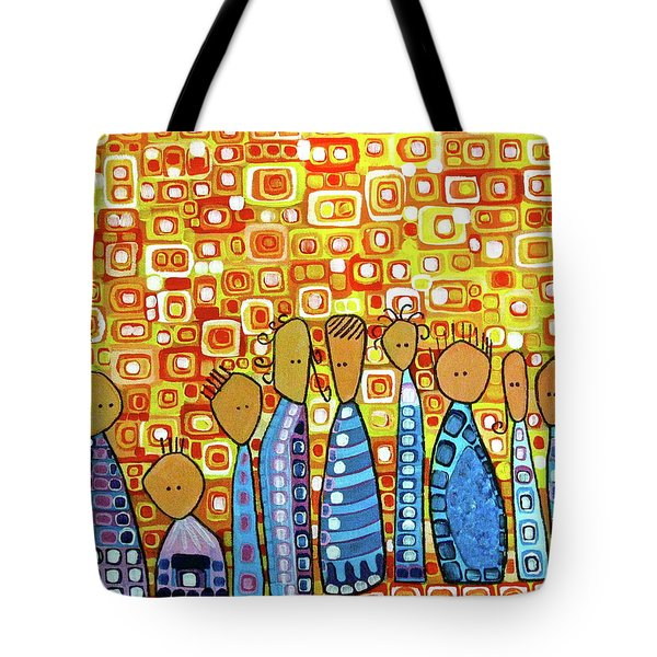 Tote Bag featuring the painting cue by Donna Howard
