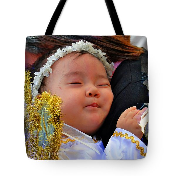Cuenca Kids 879 Tote Bag by Al Bourassa