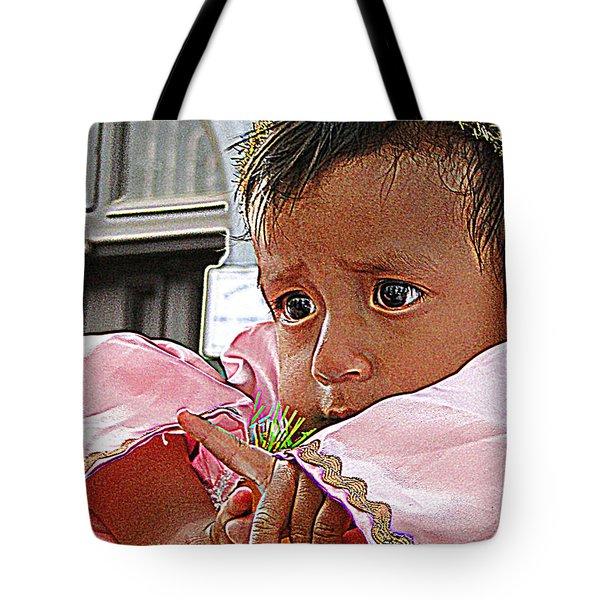 Cuenca Kids 881 Tote Bag by Al Bourassa