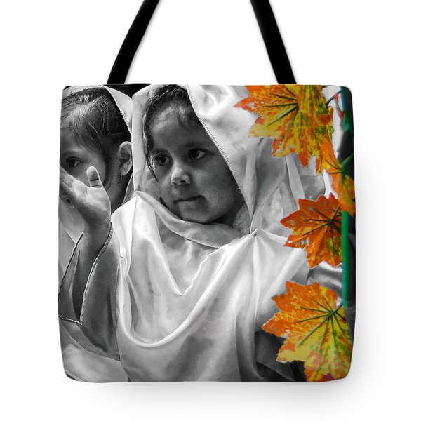 Tote Bag featuring the photograph Cuenca Kids 885 by Al Bourassa
