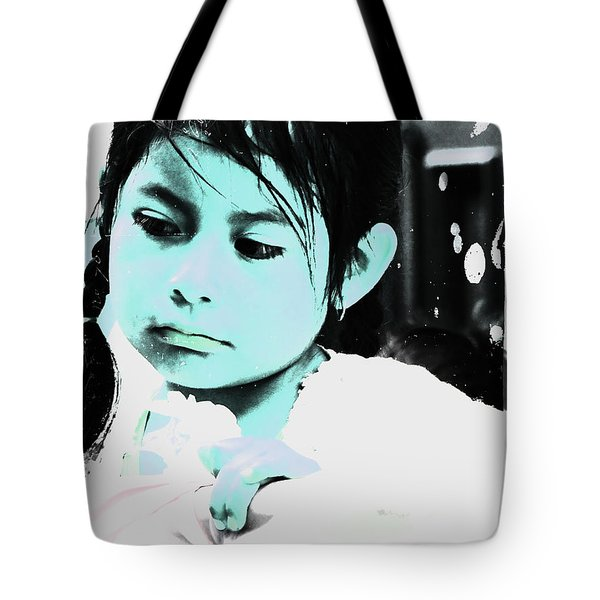 Tote Bag featuring the photograph Cuenca Kids 886 by Al Bourassa
