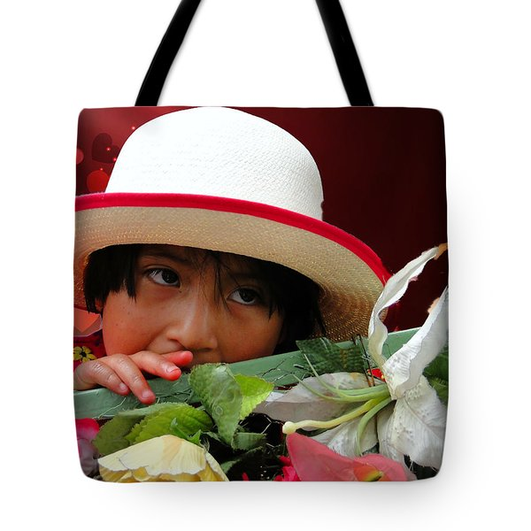 Tote Bag featuring the photograph Cuenca Kids 887 by Al Bourassa