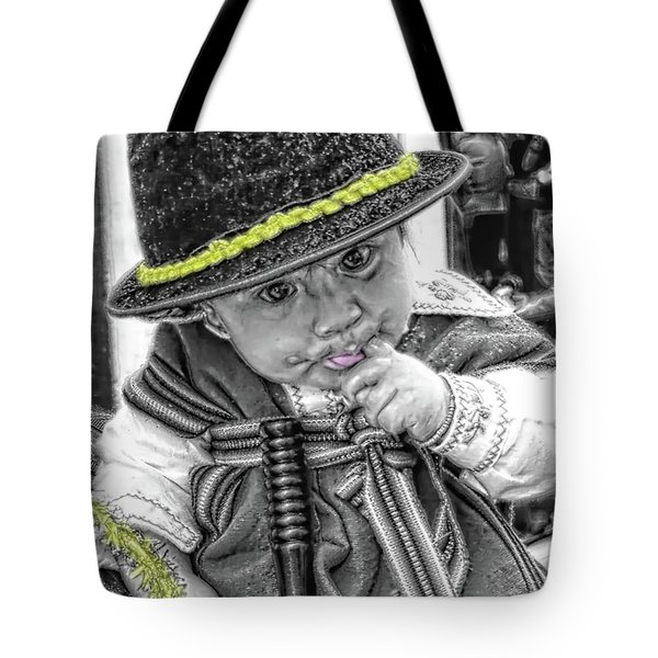 Tote Bag featuring the photograph Cuenca Kids 888 by Al Bourassa