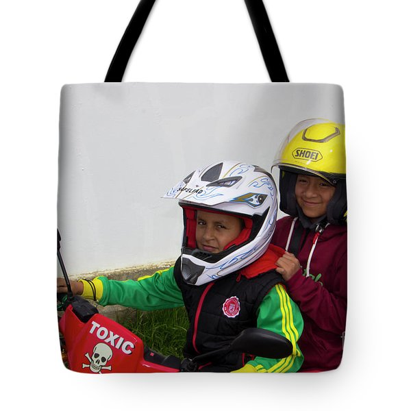 Tote Bag featuring the photograph Cuenca Kids 889 by Al Bourassa