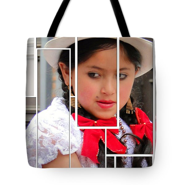 Tote Bag featuring the photograph Cuenca Kids 890 by Al Bourassa