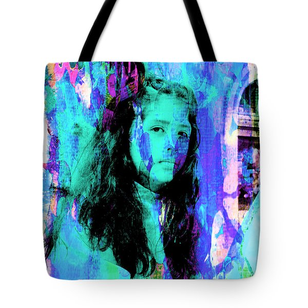 Tote Bag featuring the photograph Cuenca Kids 892 by Al Bourassa